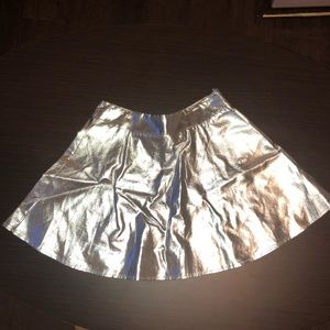 F21 Metallic Skirt